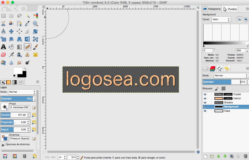 Cómo crear un logotipo en Gimp