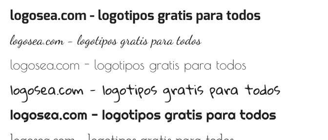 Nuevas tipografías Serif y Sans Serif en logosea