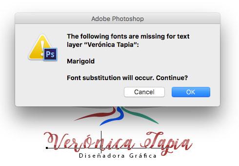 Editar tipografía en psd
