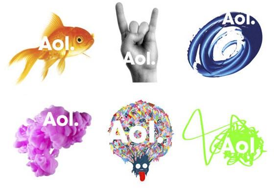 Diseño de logotipos: ejemplo logotipo AOL